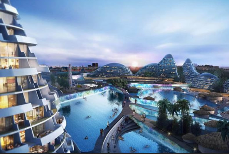 An artist impression showing South Africa's $8 billion Smart City 'dead in the water'.