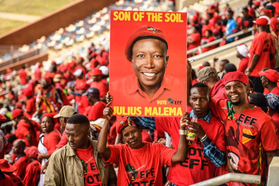 """Speaking at the launch of the EFF's elections manifesto, party leader Julius Malema said: """"We are going to amend section 25 of the Constitution to allow expropriation of land without compensation. We won't pay them"""""""