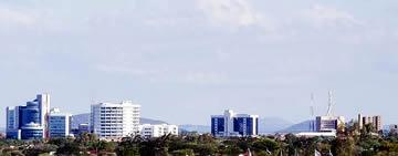 Botswana's property investment for commercial and residential sectors produced a total return of 21.4% last year. FIle Photo: Panoramic views of Gaborone Skyline.