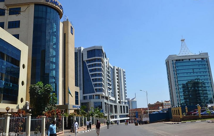 Real estate developers have been pouring money into new investments at a frantic pace in Rwanda's property market. [FILE PHOTO: Kigali CBD]