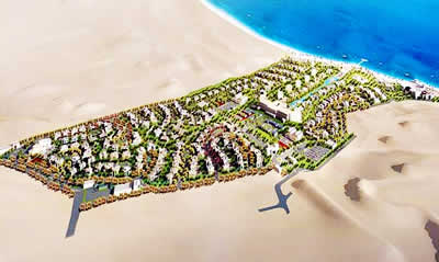 The Sharm El Sheikh development lies on the edges of the Red Sea, the development spans a massive 437,000 square meters and features offices, residential, retail and hotels