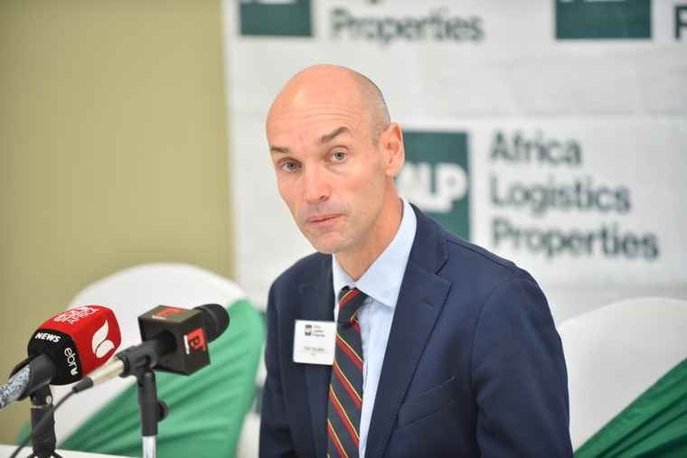 Toby Selman, CEO at Africa Logistics Properties (ALP) during the launch of North Industrial Park.