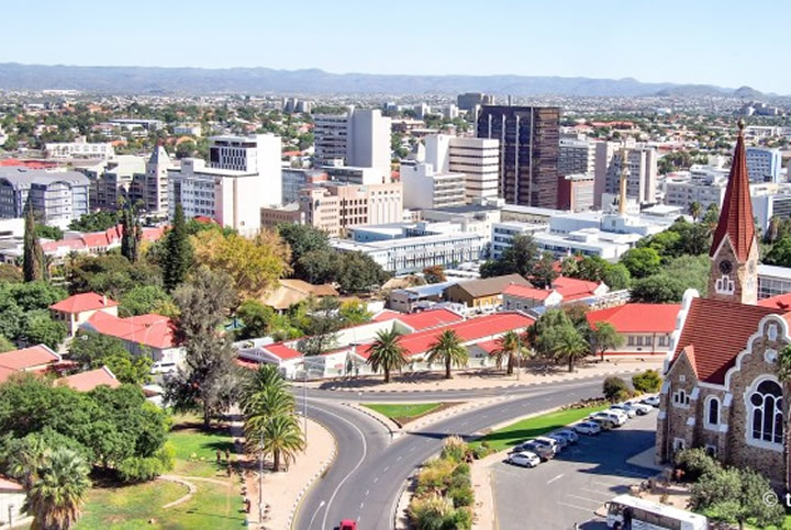 Namibia's economy shrunk by 1.2 percent in the second quarter of 2016. File Photo: Windhoek, the capital of Namibia.