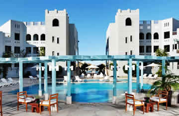 Orascom is the largest hotel owners and developers in the Middle East and North Africa region. The group partners with Rotana, Starwood, Intercontinental, Club Med, GHM and Movenpick. File Photo: Orascom's Fanadir hotel in Egypt