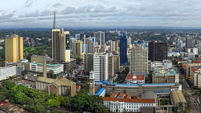[Modern Nairobi Skyline] Kenya really is at the cutting edge for African listed property markets. And more REITs are expected to list on the Nairobi Stock Exchange going forward.