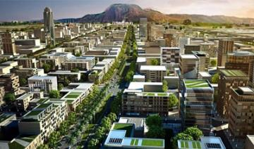 Artist perspective of Abuja City Center expansion project to include four hotels, residential houses, offices and retail centres.