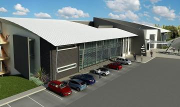 Artist impression of Business Gateway, a flagship industrial development launched by Eris Property Group – is located inside the Mon Trésor Free Trade Zone in Mauritius