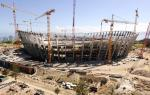 Construction phase at the Green Point stadium in Cape Town which hosted the 2010 FIFA World Cup. FILE PHOTO