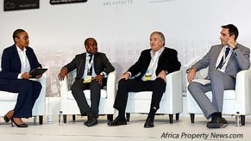 "Seen at the panel discussion titled ""Property Investment in Europe / Eastern Europe compared with Africa"": Gugulethu Cele, Kundayi Munzara, Jeff Zidel and Benjamin Perez Ellischewitz."