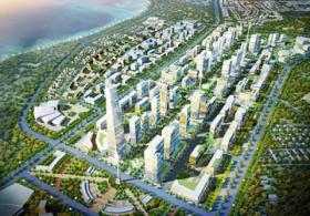 An artist's impression of Kigamboni New City in Dar es Salaam, Tanzania.