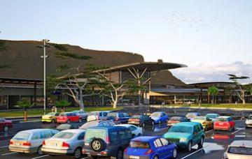 An artist's impression of Maseru Mall in Lesotho funded by Nedbank Corporate Property Finance.