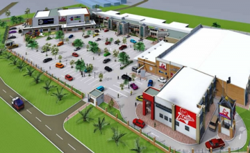 Artist impression of Sawanga Shopping Mall in Victoria Falls which is now 65% complete.