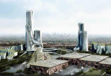 Artist Perspective of the new $7.4 billion city in Modderfontein, Johannesburg, owned by Hong Kong listed Shanghai Zendai.