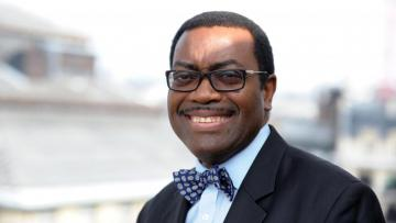 """Akinwumi Adesina, African Development Bank President is confident of a """"very promising future"""" for the continent."""